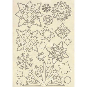 KLSP084 Wooden Frame A5 Snowflakes