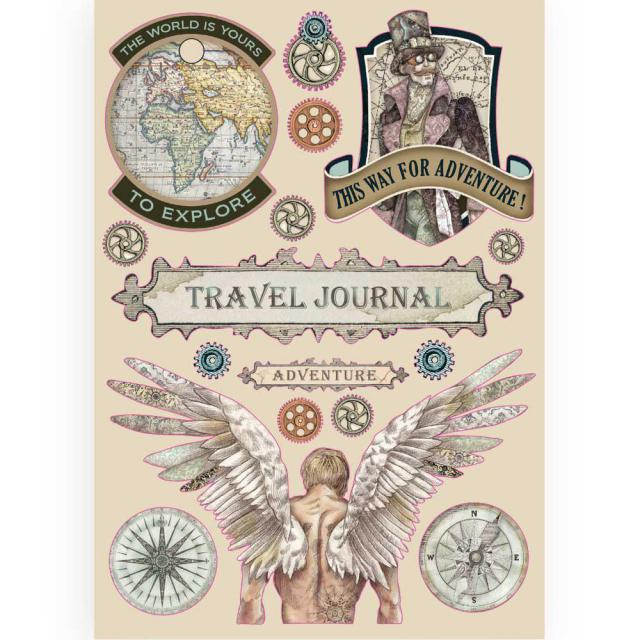 KLSP085 Wooden Frame A5 Sir Vagabond Travel Journal