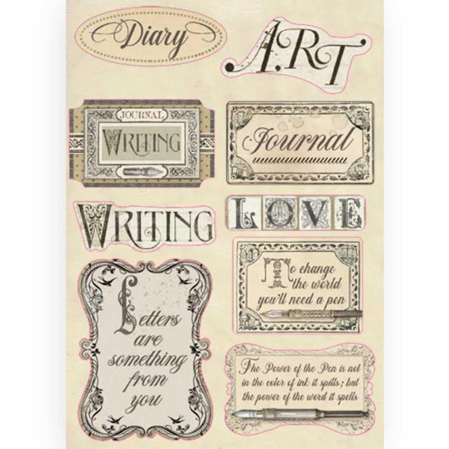 KLSP088 Wooden Frame A5 Calligraphy Labels