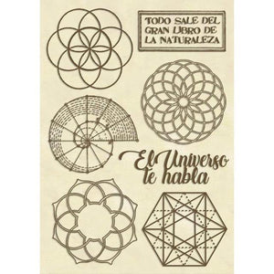 KLSPA611 Wooden Frame A6 Sacred Geometry
