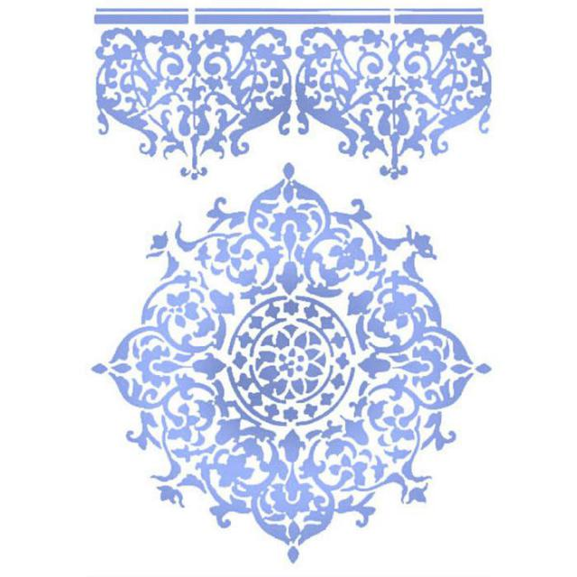 KSG356 Stencil G 21x29.7 Lace Center and Border