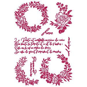 KSG461 Stencil G 21x29.7  Romantic Journal Garlands Love