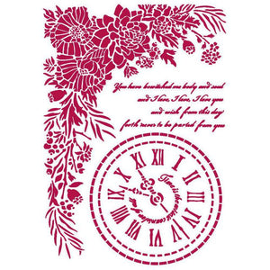 KSG465 Stencil G 21x29.7  Romantic Journal Clock