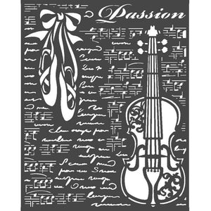 KSTD069 Thick Stencil 20x25 Passion Violin