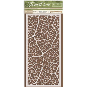 KSTDL33 Thick Stencil 12x25 Forest Leaf