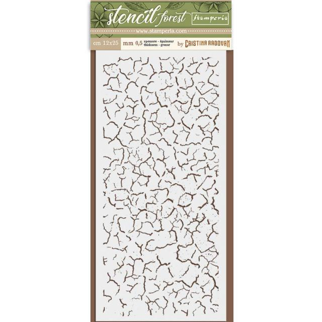 KSTDL34 Thick Stencil 12x25 Forest Crackle