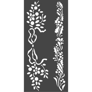 KSTDL37 Thick Stencil 12x25 Christmas Borders