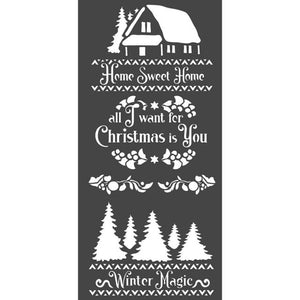 KSTDL40 Thick Stencil 12x25 Winter Magic