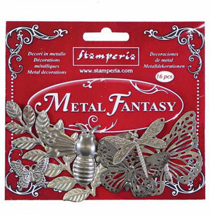 SBA382 Metal fantasy Nature - 16 pieces