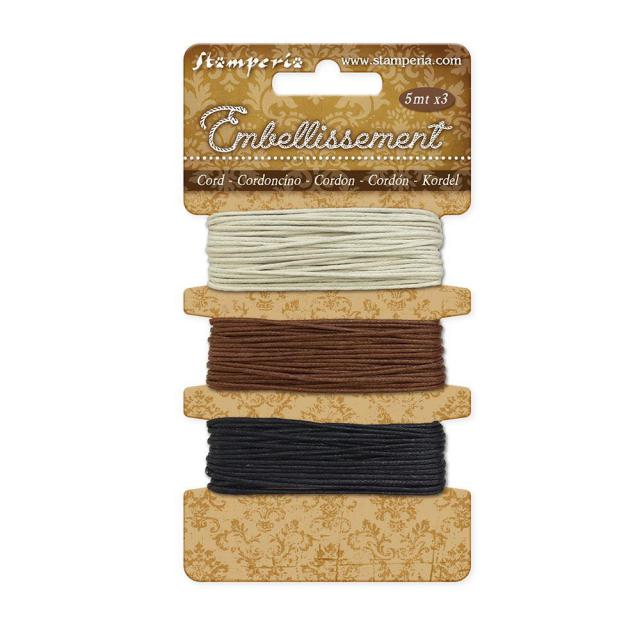 SBA384 Cording Ivory, Brown, Black