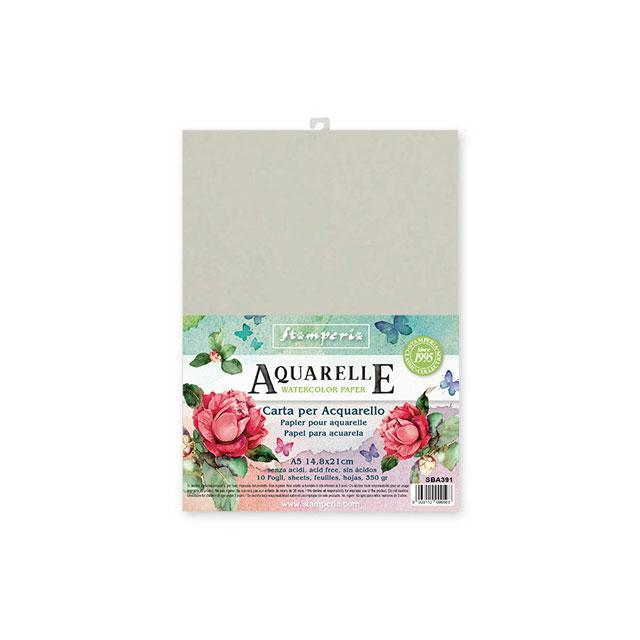 SBA391 Aquarelle A5 350gr - 10 sheets