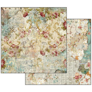 SBB520 Double Sided Single Sheet Time is an Illusion Floral Texture