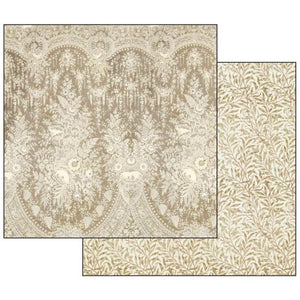 SBB529 Double Sided Single Sheet Old Lace Texture Beige Background