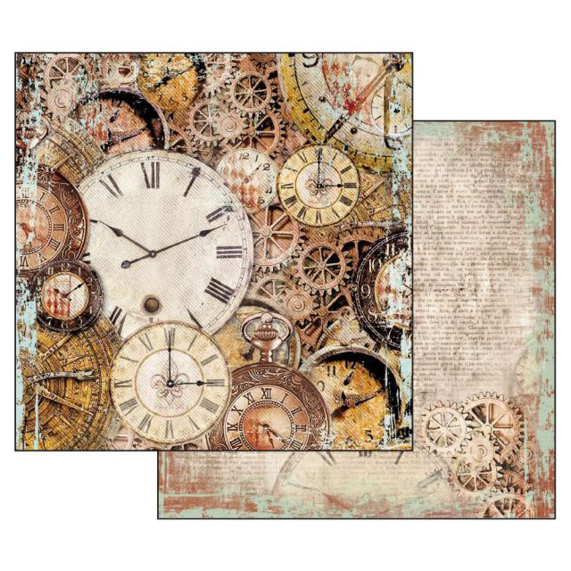 SBB531 Double Sided Single Sheet Clockwise Clocks with Mechanism