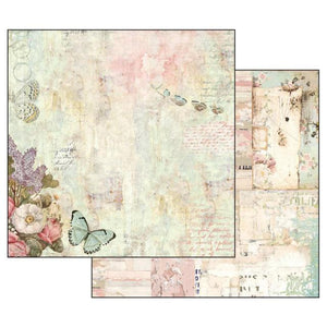 SBB539 Double Sided Single Sheet Wonderland Flowers and Butterflies