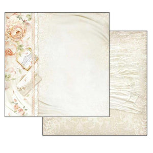 SBB553 Double Sided Single Sheet Peony and Letters