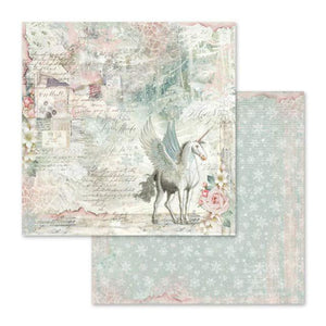 SBB558 Double Sided Single Sheet Unicorn Fantasy