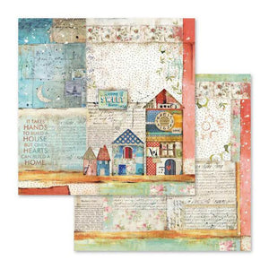SBB570 Double Sided Single Sheet Patchwork Little Houses