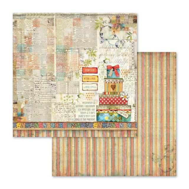 SBB571 Double Sided Single Sheet Patchwork Gift