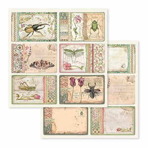 SBB590 Double Sided Single Sheet Spring Botanic Cards