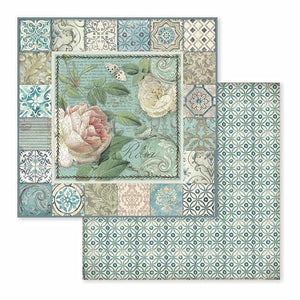 SBB606 Double Sided Single Sheet Azulejo Frame with Rose