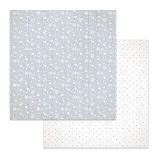 SBB619 Double Sided Single Sheet Texture Snowflakes