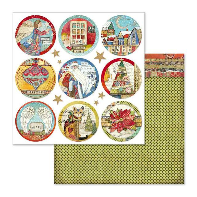SBB637 Double Sided Single Sheet Christmas Rounds