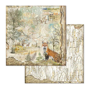 SBB656 Double Sided Single Sheet Forest Fox
