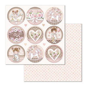 SBB681 Double Sided Single Sheet Little Girl Round