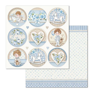 SBB685 Double Sided Single Sheet Little Boy Round