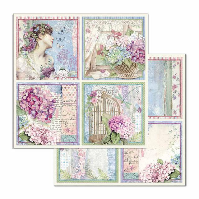 SBB697 Double Sided Single Sheet Four Cards