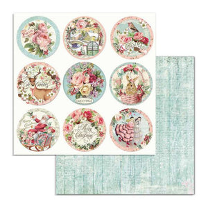 SBB701 Double Sided Single Sheet Pink Christmas Rounds