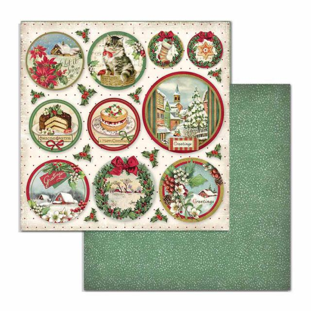 SBB704 Double Sided Single Sheet Classic Christmas Rounds
