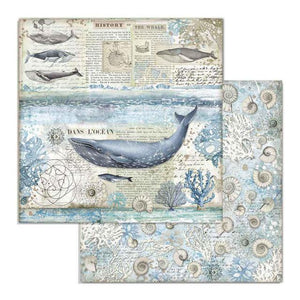 SBB729 Double Sided Single Sheet Whale