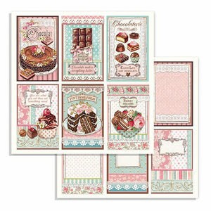 SBB738 Double Sided Single Sheet Chocolate Cards