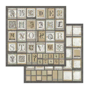 SBB741 Double Sided Single Sheet Alphabet