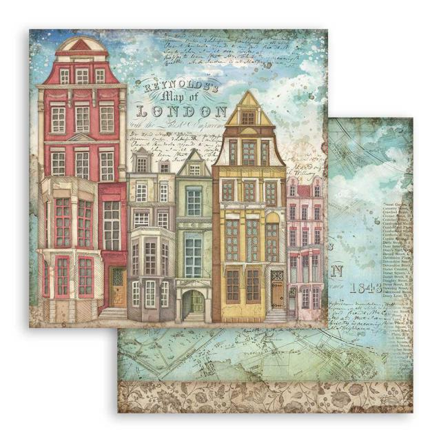 SBB761 Double Sided Single Sheet London Houses