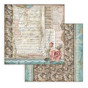 SBB770 Double Sided Single Sheet Passion Roses and Music
