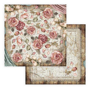 SBB771 Double Sided Single Sheet Passion Roses and Laces