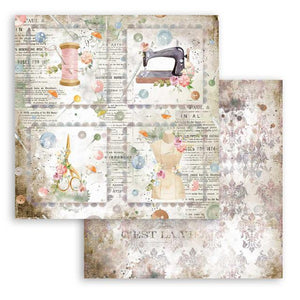 SBB792 Double Sided Single Sheet Romantic Threads Cards