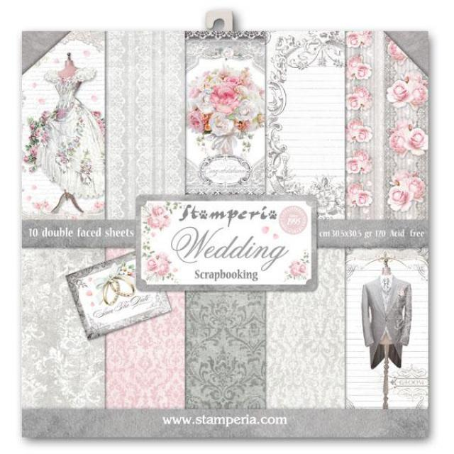 "SBBL18 Paper Pad (12""x12"") Wedding"