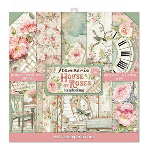 "SBBL66 Paper Pad (12""x12"") House of Roses"