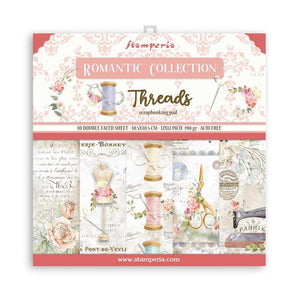 "SBBL88 Paper Pad (12""x12"") Romantic Threads"