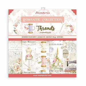 "SBBS36 Paper Pad  (8""x8"") Romantic Threads"