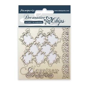 SCB07 Decorative Chips 9.5 x 9.5cm Lace Border