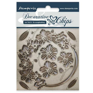 SCB23 Decorative Chips 14 x 14cm Garland of Flowers