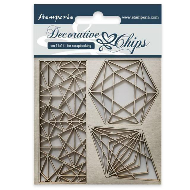 SCB28 Decorative Chips 14 x 14cm Geometry