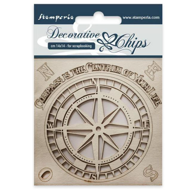 SCB29 Decorative Chips 14 x 14cm Compass