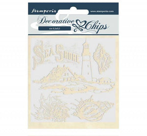 SCB53 Decorative Chips 14 x 14cm Romantic Sea Dream Sea Shore