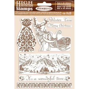 WTKCC169 HD Natural Rubber Stamp 14x18 Winter Time